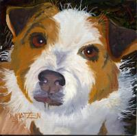 Dog Series - Dog 16 - Oil On Board