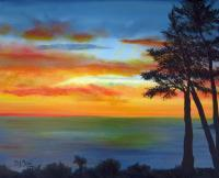 Waterscapes - Sunset III - Oil
