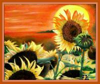 Painting - Sunflowers - Oil On Canavas