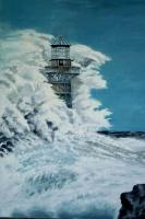 Painting - Abandoned Lighthouse - Oil On Canavas