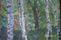 Erotic - Birches - Acrylics