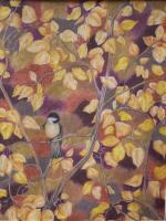 Birds - Camoflayged Chickadee - Colored Pencil
