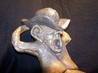 Character Collection - Reclining Cowboy Close Up - Plaster