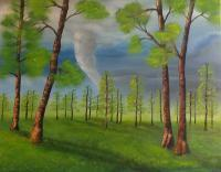 Calm Before The Storm - Oil On Canvas Paintings - By Bonnie Bowen, Traditional Painting Artist