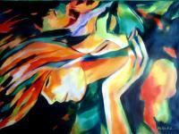 Colorful Energy - Immortal Love - Sold - Acrylic On Canvas