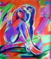 Colorful Energy - Sorrows - Sold - Acrylic On Canvas