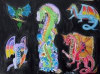 Dragon - Acrylic On Canvas Paintings - By Fernando Maneiras, Modern Painting Artist
