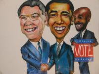 That Guy - Get Out And Vote - Colored Pencil  Paper