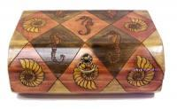 Nautical Chest - Wood Woodwork - By Amy Price-Marcotte, Pyrography Woodwork Artist