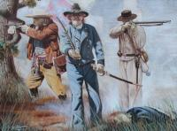 Civil War - Confederates At Chickamauga - Oil