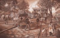 Civil War - Widow Gordons Mansion - Giclee Print