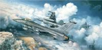 Limited Edition Prints - The Buzzard Boys - 31St Fighter Wing F-16Cs - Oil On Canvas