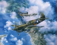 Limited Edition Prints - One Off At Darwin - P-40E Warhawk 49Th Fighter Group - Oil On Canvas