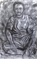 Model - Pedicab Driver - Charcoal On Paper