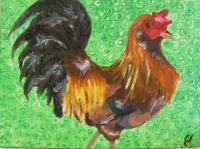 Animals - Rooster - Acrylic