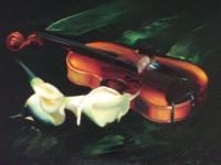 Art Gallery - Violin  Cale - Oil On Canvas