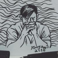 Free-Hand Drawing - Daily Mood - Pen