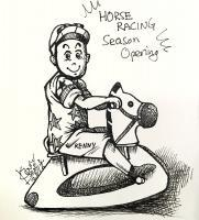 Free-Hand Drawing - Horse Racing Season Opening - Pen