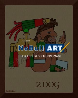 Pre-Colombian Prints - 2 Dog - Digital Print