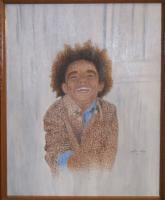 Little Dude - Acrylic Paintings - By Vince Gray, Pointillism Painting Artist