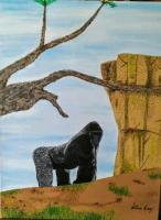 4 - Harambe - Mixed Media