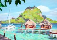 House Portrait - Bora Bora Lagoon Resort - Oil