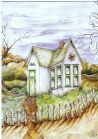 House Of Dreams - Watercolor Paintings - By Janis Artino, Nature Painting Artist