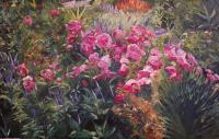 Olbrich Garden Series Garden 1 - Oil Paintings - By Lisa Konkol, Impressionistic Painting Artist