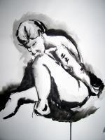 Figures - Nude Study In Ink - Ink On Paper