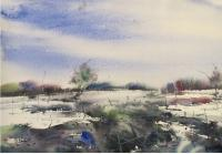 Nil - Land Scape 3 - Water Colour On Handmead Paper