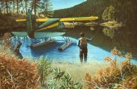 Landscape - Wilderness Fishing - Oil