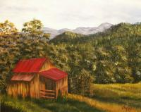 Landscapes - Old Barn - Acrylics