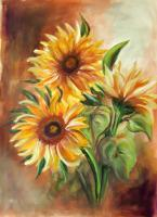 Floral - Sunflowers - Guache