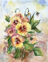 Floral - Pansies - Watercolor