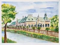 Places - Banska Bystrica - Historical Spa - Watercolor