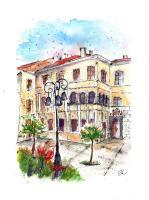 Places - Banska Bystrica - Beniczky House - Watercolor
