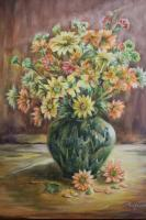 Still Life - Daisies - Oil On Canvas