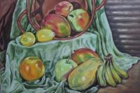 Still Life - Fruits Still Life - Oil On Canvas