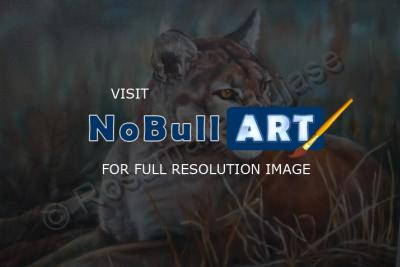 Animals - Cougar - Oil On Canvas