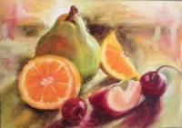 Still Life - Fruits - Oil On Canvas Panel