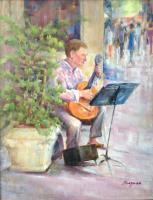 Portraits - The Musician - Oil On Canvas