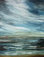 Sea Land And Sky - Storm Over Moray Firth - Acrylic