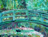 Garden At Giverny Col 2 - Digital Digital - By Adele Smith, Impressionist Digital Artist