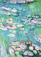 Garden At Giverny - Waterlillies - Acrylic Photographed