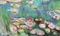 Garden At Giverny - Waterlillies 2 - Acrylic Photographed