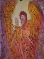 Angels - Angel Zadkiel - Oil Photographed