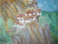 Watercolors - Tigers Nest Bhutan - Watercolor