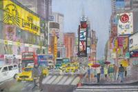 Oil Painting - Times Square - Oil