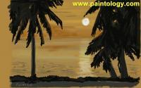 Canvas Painting Of A Relaxed Day - Digital Canvas Paintings - By Ferdouse Khaleque, Paintology Painting Painting Artist