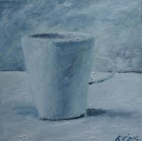 A Cup - Oil On Canvas Paintings - By Kristina Cesonyte, Impressionism Painting Artist